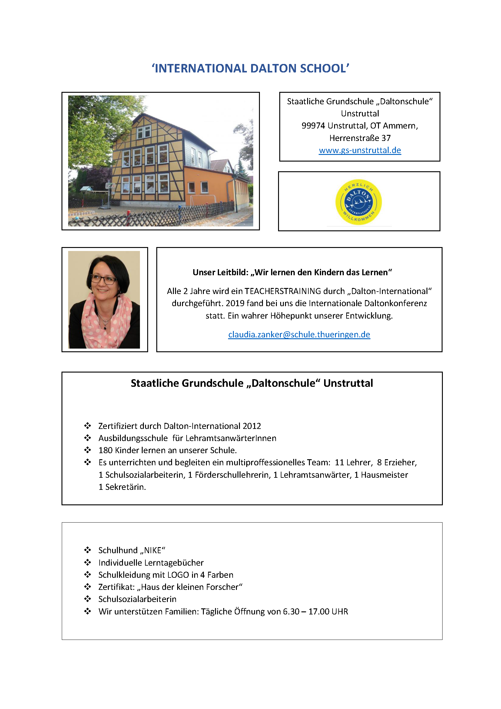 Unstruttal AS 'INTERNATIONAL DALTON SCHOOL'